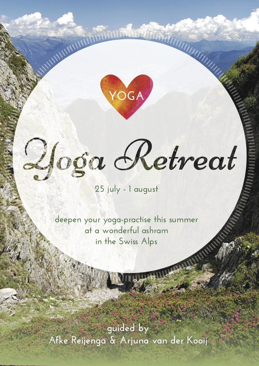 Flyer Switserland Yoga Retreat front